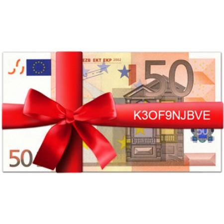 Beispiel für einen Geschenkgutschein mit Gutscheincode