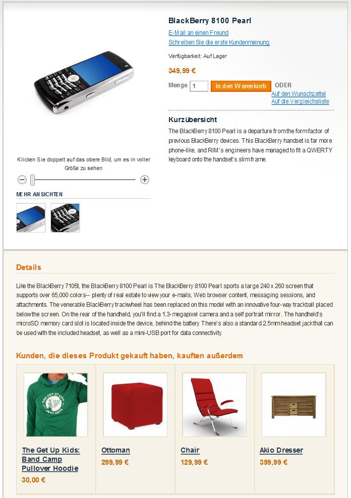 Magento Modul Automatisches Cross-Selling zeigt passende Produkte auf der Artikelseite an